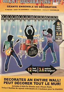 Image Is Loading Rock Star Guitar Party Supplies Giant Decorating Kit