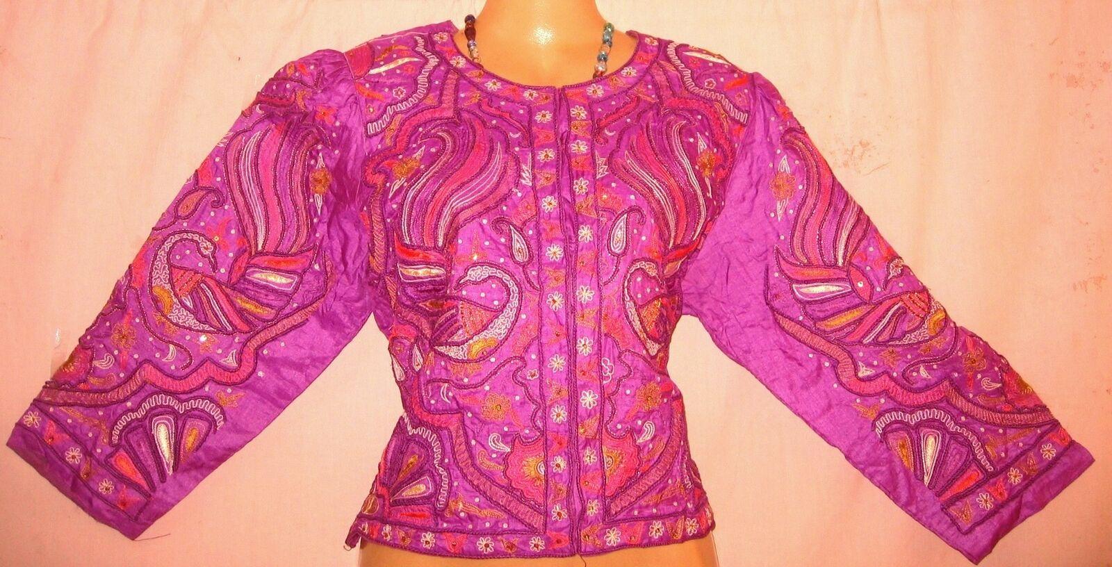 Vintage Sari Saree Blouse Choli Top BUST 40