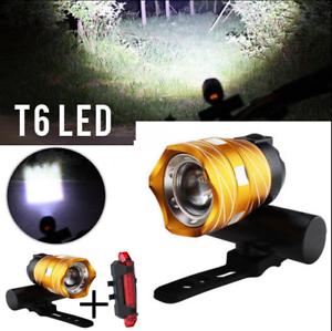 Wiederaufladbare 15000LM XM L T6 LED MTB Fahrrad Licht Frontscheinwerfer USB