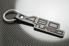 VOLVO 480 Turbo Cuero KEYRING LLAVERO SCHLÜSSELRING Porte-clés es 480ES