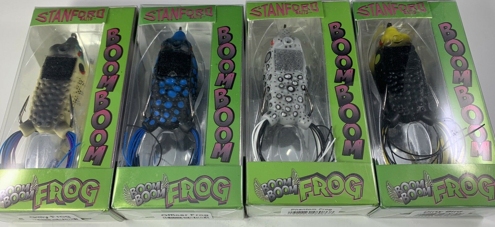 NEW COLORS Stanford Baits Boom Boom Frog (Lot of 4)
