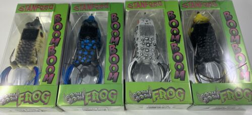 NEW COLORS Stanford Baits Boom Boom Frog Lot of 4