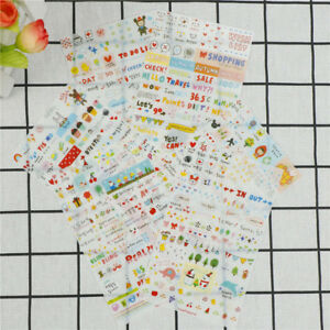 6Pcs-set-Simple-Life-Stickers-For-DIY-Scrapbooking-Planner-Cardmaking-JournalJ7