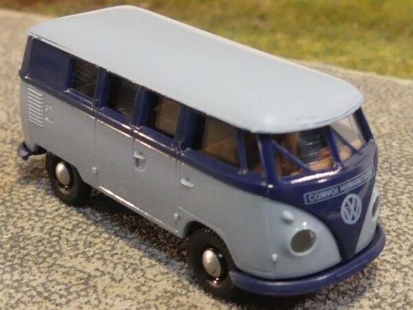 1 87 Brekina   0806 vw t1 B Bleu Bleu foncé bleu bus K BBF