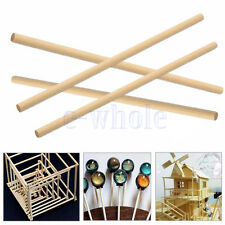 100pcs 150mm Round Wooden Lollipop Lolly Sticks Cake Dowel For DIY Food Craft HM