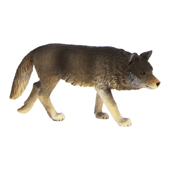 Mojo Fun 387026 Timber Wolf Walking Realistic Forest Wild Animal Toy Model - NIP