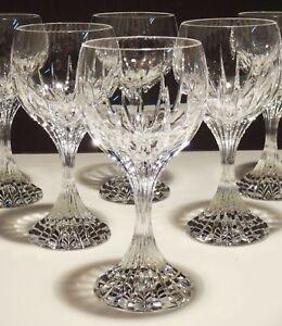 4fbce636ae3 Details about 6 BACCARAT CRYSTAL MASSENA CLARET WINE GLASSES ~ SIGNED ~ 6  3/8