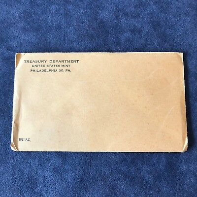 Mint Silver Proof Set Flat Pack Unopened Sealed Envelope 1961 U.S