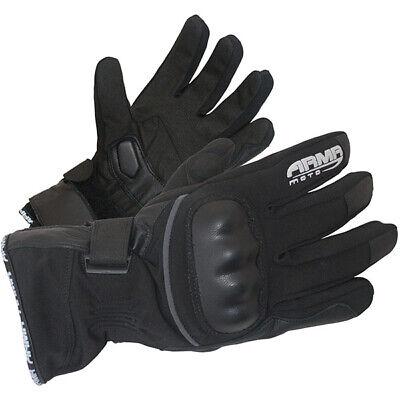Armr Moto WP220 Waterproof Motorcycle Gloves Winter Thermal Textile Motorbike
