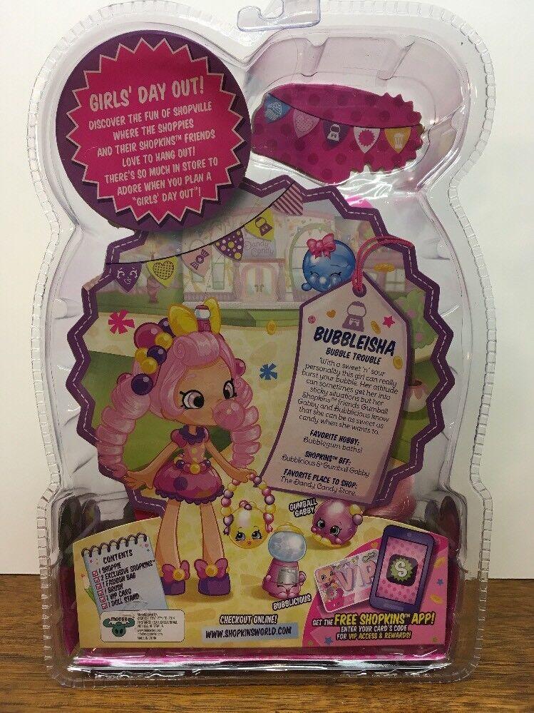 Shopkins Shoppie Doll Bubbleisha w    Two Exclusive Shopkins  New Free Shipping ac81ab