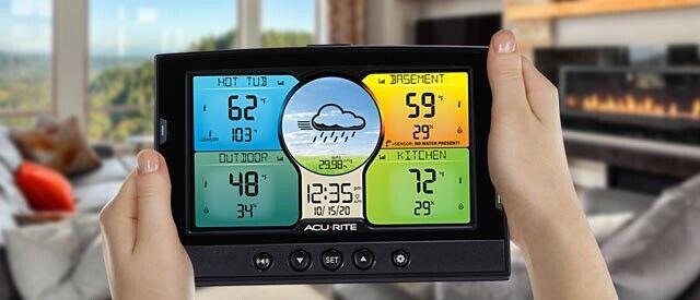 AcuRite Indoor Outdoor Weather Station 3 Remote Temperature Humidity Sensors