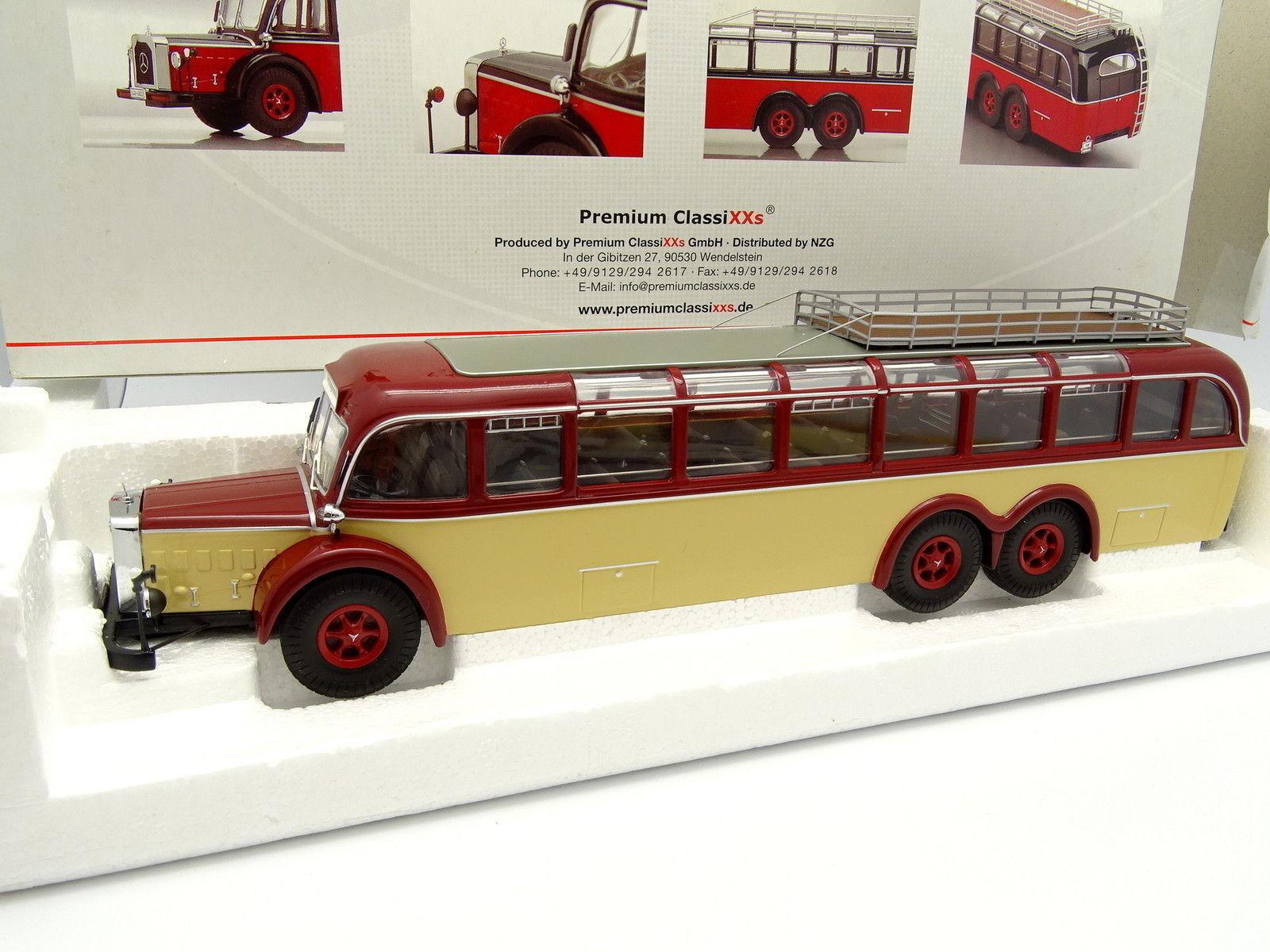 Premium Classixxs 1 43 - Bus Car Autobus Mercedes O10000 red