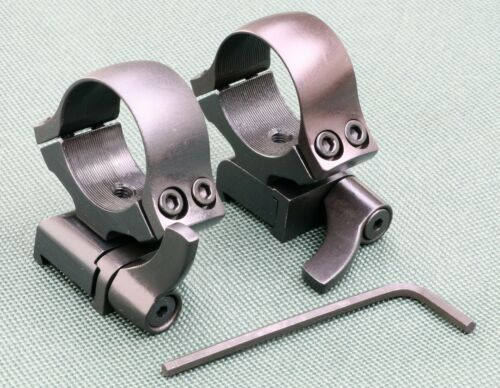 CZ527 scope rings mounts, 2 PIECE QUICK DETACH , 1 inch , STEEL MATTE finish.