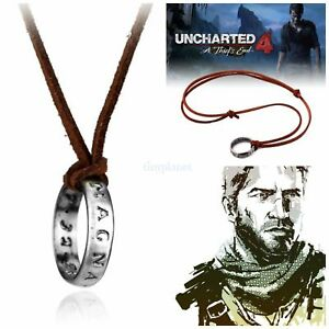 Uncharted-Nathan-Drake-039-s-Ring-Necklace-Pendant-Cosplay-Gaming-PS4