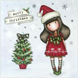 Christmas Greeting Images.Details About Santoro Gorjuss Christmas Greeting Card Merry Christmas Santa Girl