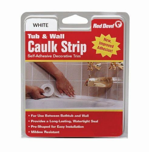 New, Red Devil 0151 Wide White Tub and Wall Caulk Strip 1-5//8-Inch by 11-Foot