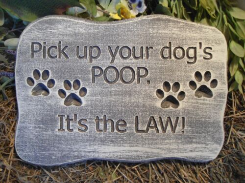 Plastic dog POOP plaque mold concrete plaster mould