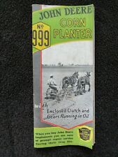 Original 1937 Brochure For The John Deere No 99 Corn Planter