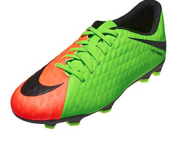 size 40 629c4 da75f Nike Hypervenom Phade III FG Soccer Cleats Electric Green Black Orange Mens  13