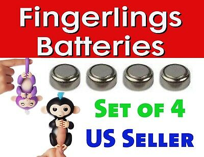 Sloth &unicorn 4 New Sealed Batteries For Wowwee Fingerlings Electronic Monkey Electronic & Interactive Toys & Hobbies
