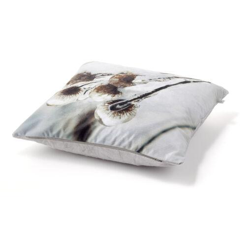 Kissenbezug mit Wintermotiv Kissenhülle 45× 45 cm Kissen Dekokissen Rentier Eule