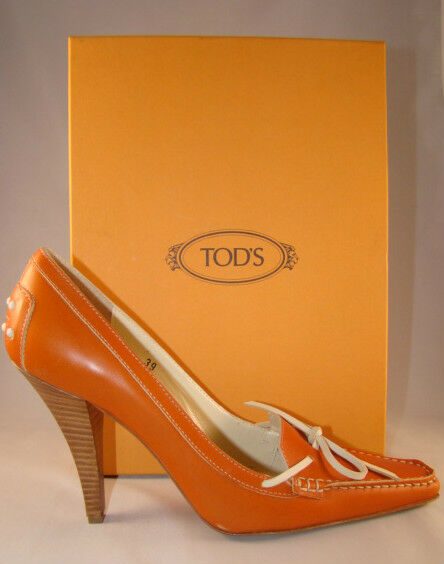 ELEGANT TOD'S HEELS PUMPS SHOES NEW MADE IN ITALY
