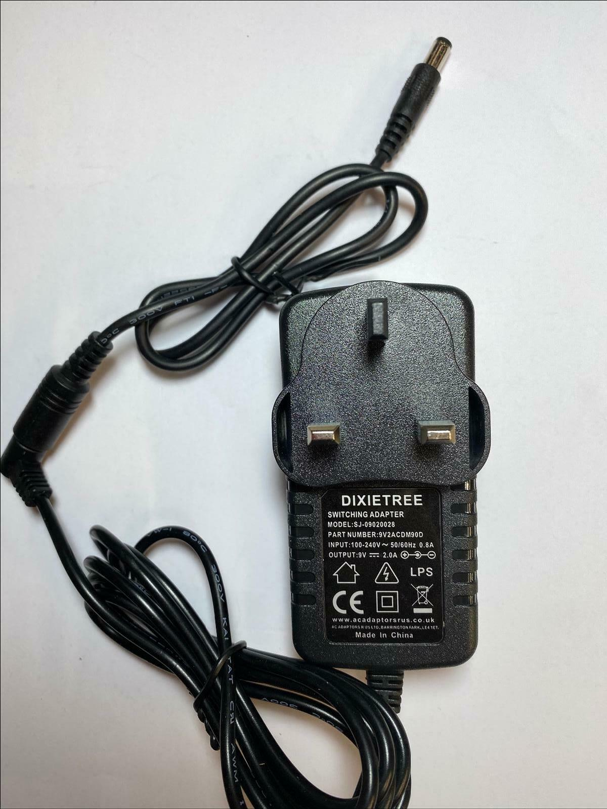 Replacement for 9V 1.2A AC-DC Power Adaptor for Roland / Rogers W50 Keyboard
