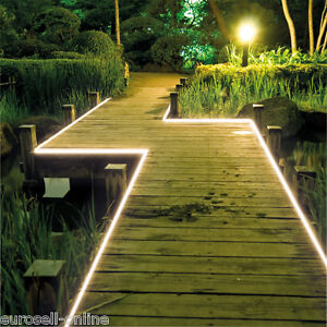 led stripe ip54 au en komplett set led garten streifen band kette tube licht 5m ebay. Black Bedroom Furniture Sets. Home Design Ideas