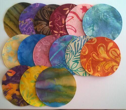 Batik Circles Large fabric Pack remnants patchwork bundle 100/%cotton