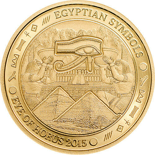1$ 2015 Palau - Egyptian Symbols - Eye of Horus smartminting Au