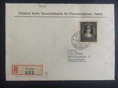 Liechtenstein Humor 1946 Vaduz Liechtenstein Abdeckung Zu Langenthal #226 Registrierte Briefmarken