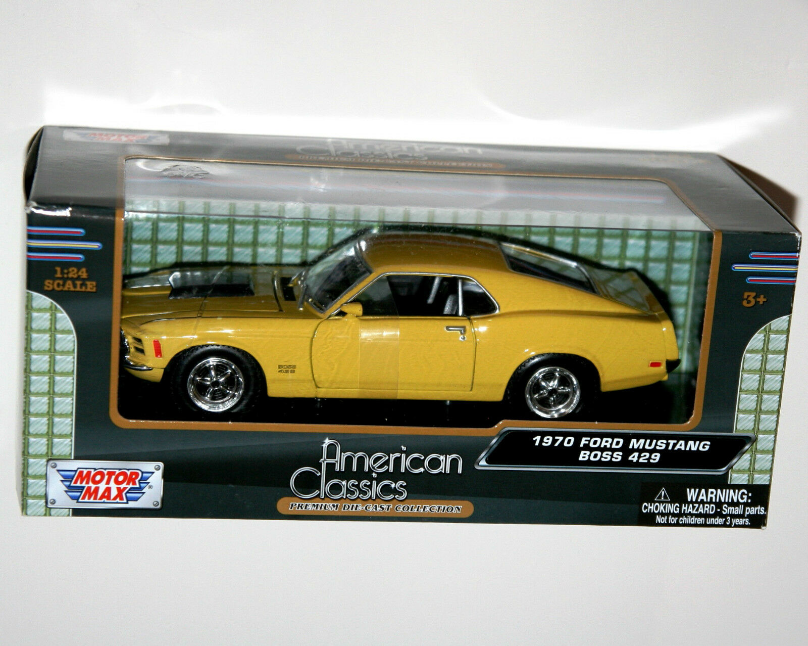 Motor Max - 1970 FORD FORD FORD MUSTANG BOSS 429 (Yellow) - Model Scale 1 24 6b996b