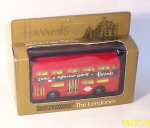 Matchbox-Lesney-Vintage-Superkings-K-15-el-bus-londinense-Harrods-MIB