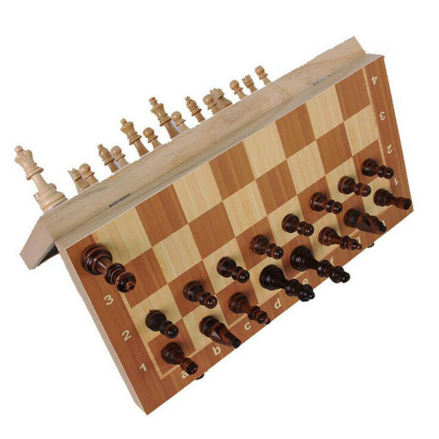 Portable Travel Magnetic Tournament Chess Set Folding Board Box Gift Kids Toy dl
