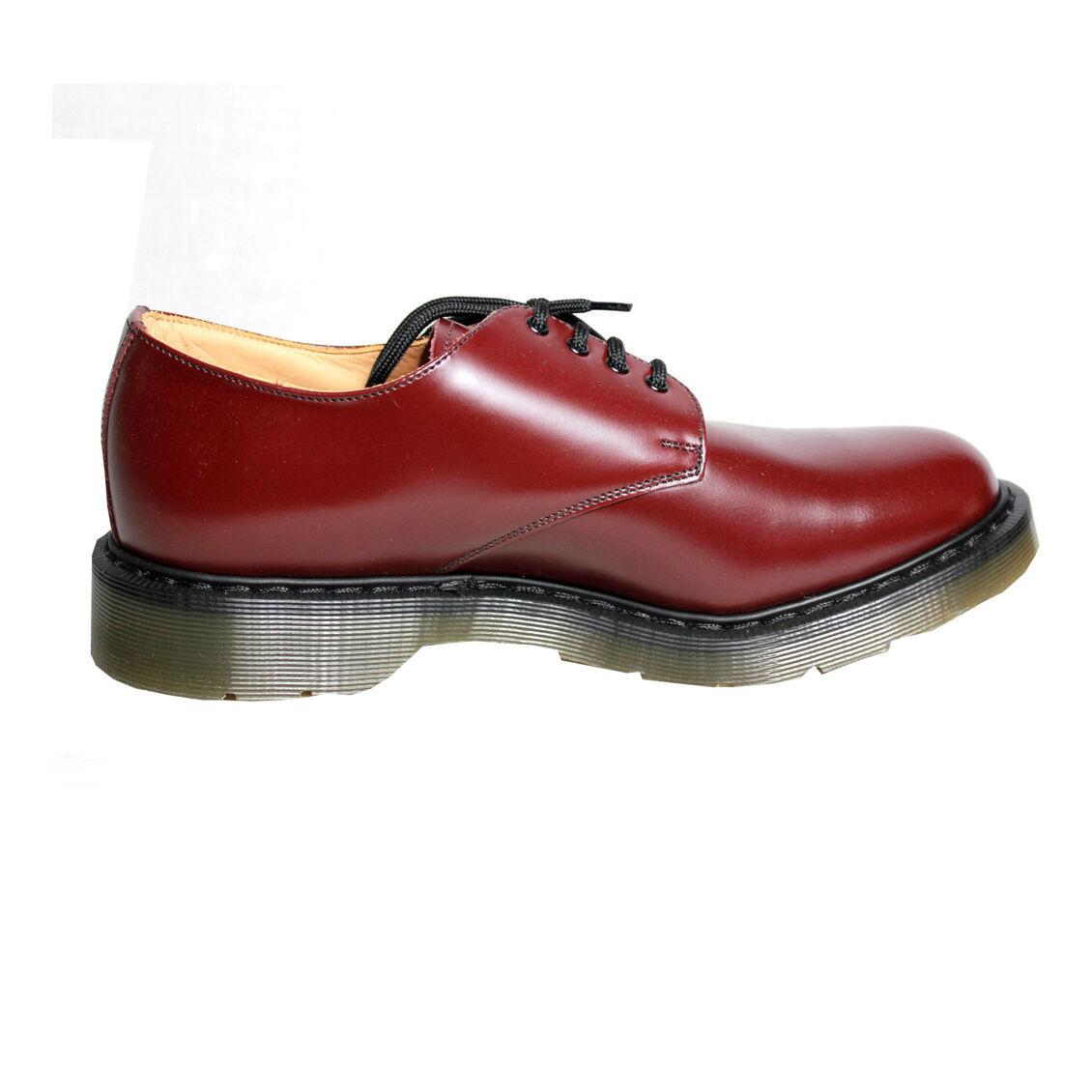 SOLOVAIR hergestellt in Vereinigtes Königreich Herren Schuhe bordeaux