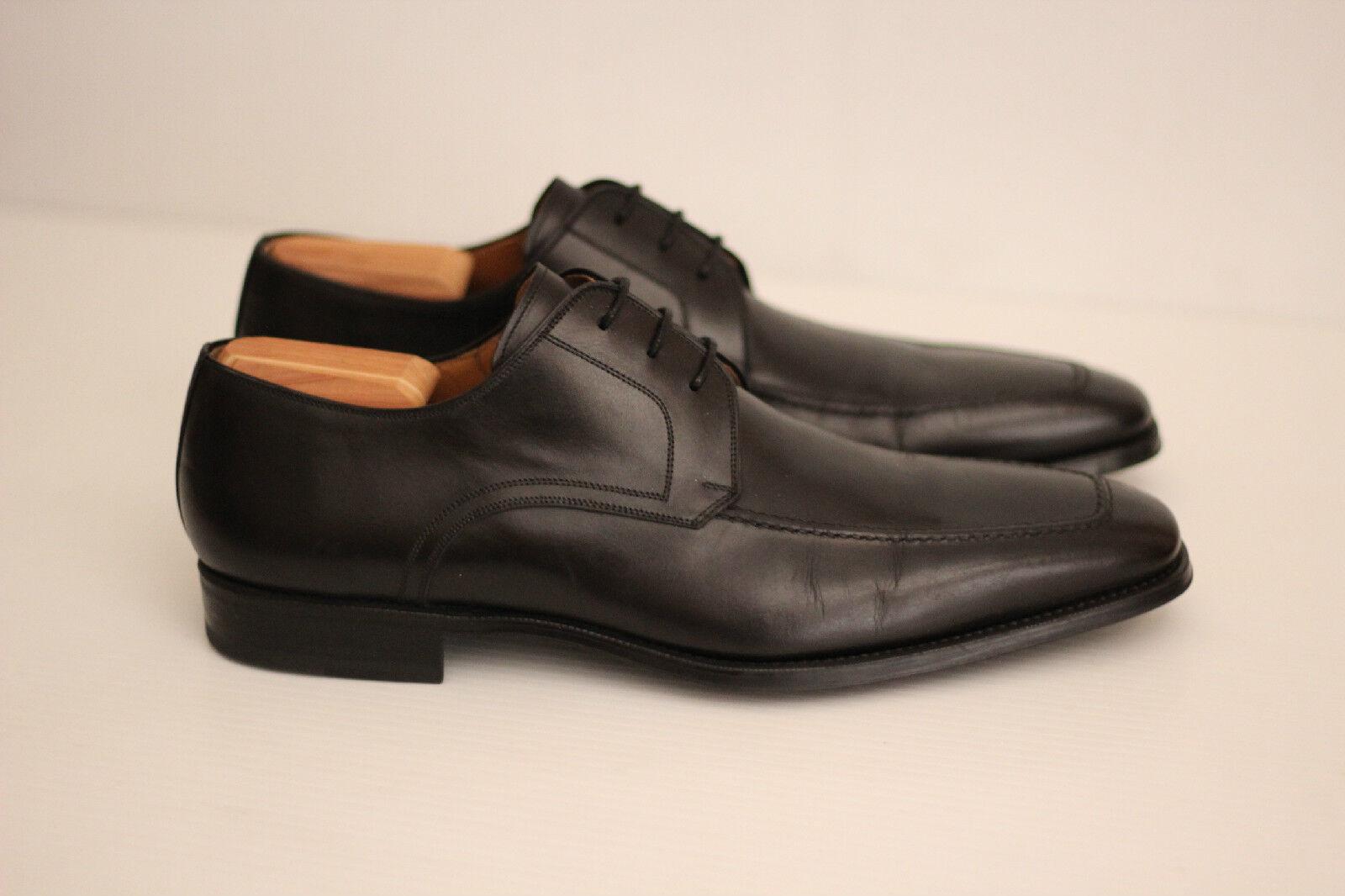 prezzi all'ingrosso Magnanni 'Pardo' Derby Derby Derby - nero Leather - 13 M - 13723  (S13)  risposta prima volta