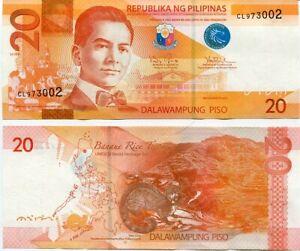 PHILIPPINES 20 PISO PESOS 2014A 206 P 206 UNC