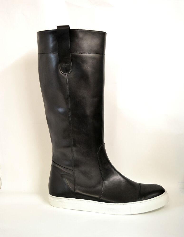 Scarpe Stivali Sneakers Alte Vera Pelle Made In Italy Personalizzabili Da 35 A47