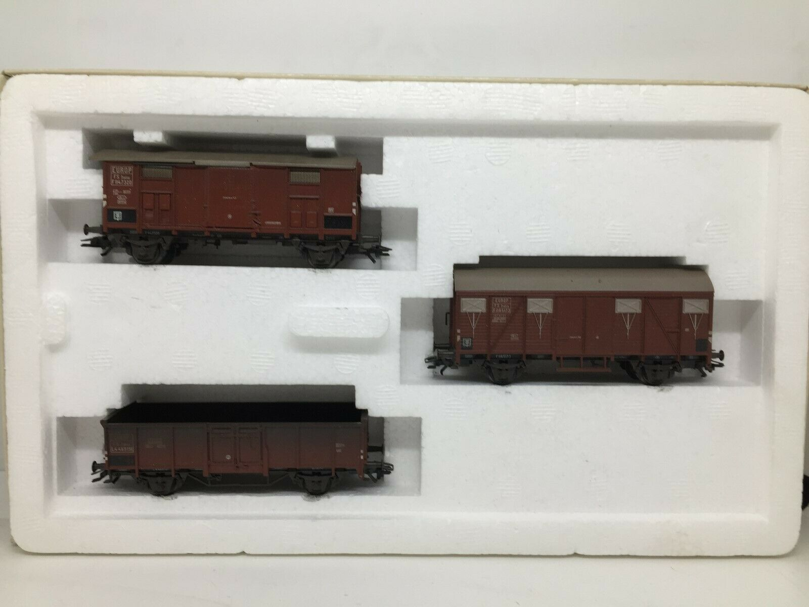 MARKLIN HO coffret de 3 anciens wagons marcheises réf. 47889