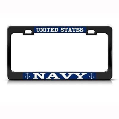 Navy Military Car Accessories Chrome Metal License Plate Frame U.S