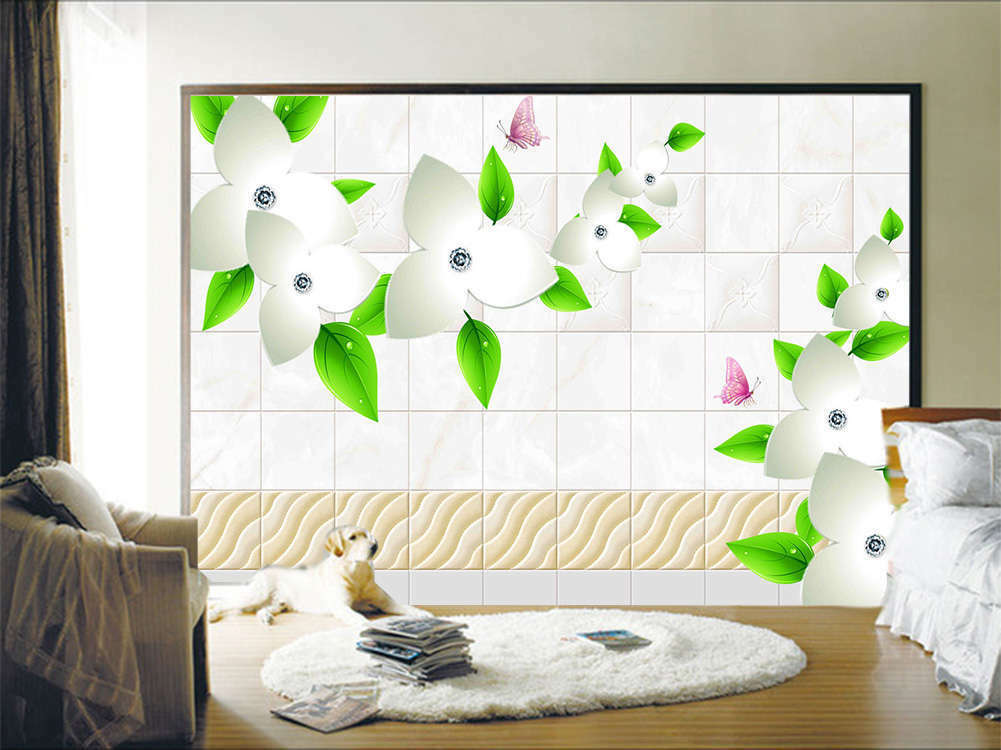 Pulpy Lissome Leaf 3D Full Wall Mural Photo Wallpaper Printing Home Kids Decor