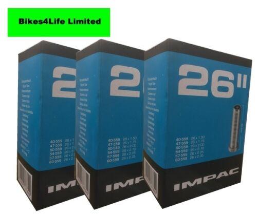 IMPAC (SCHWALBE) MTB CYCLE INNERTUBE 26 X 1.5-2.35/40mm SCHRADER QUANTITY OPTION