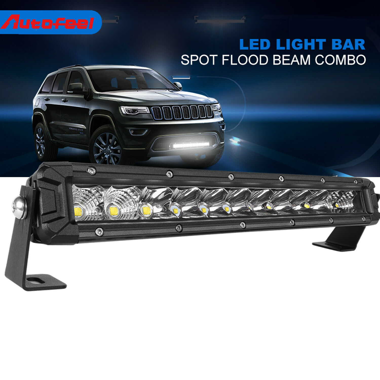 Slim 25inch Single Row 120W Spot Ford LED Offroad Light Bar UTE Truck 4D Optical