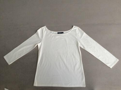 Bianche 95/% cotone 5/% Spandex Nuovo! Hanes Shirt da Donna Scollo UBOOT 7//8 braccio