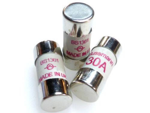 3x 30a del Consumidor Unidad Caja De Fusibles Fusibles 30 Amp bs1361 Reino Unido realizó Ducha Cocina Calentador