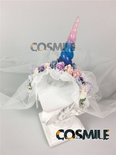 Unicorn Mantilla Hairband Hair Accessory Fit for 1//3 1//4 1//6 BJD Doll Cosplay Ze