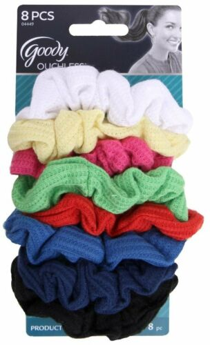 Goody Ouchless Ribbed Hair Scrunchies 8 Scrunchies Assorted Colors