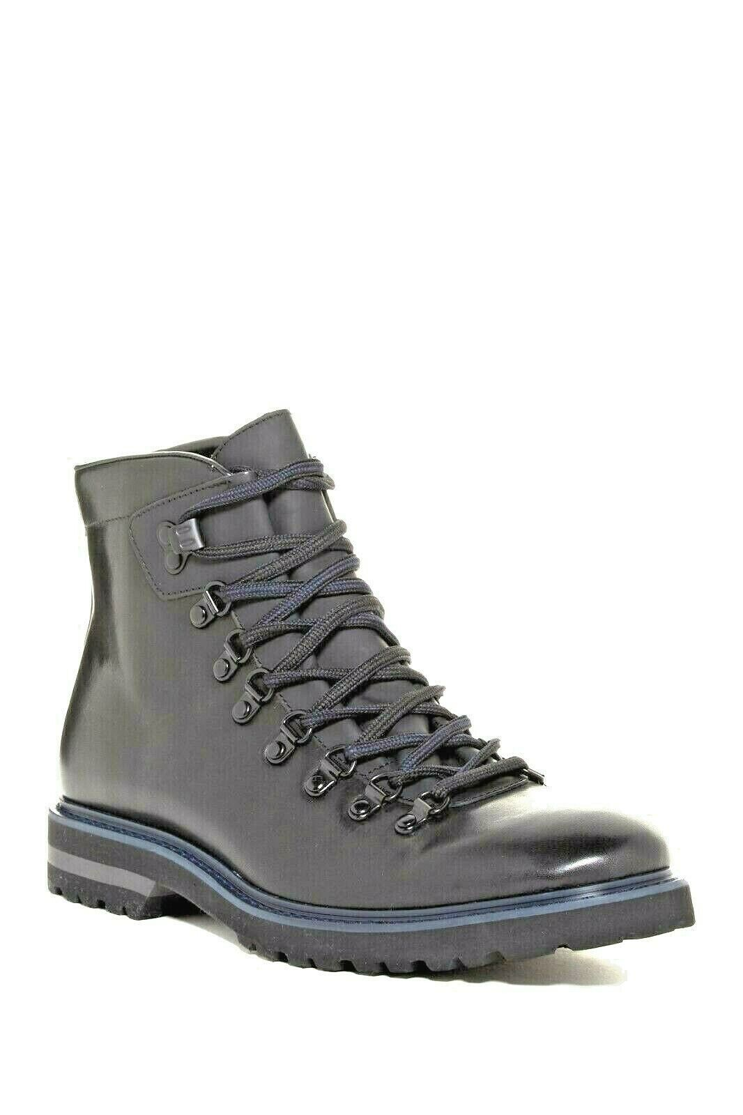 Kenneth Cole NY Men's Click Magnet US 12 M Cole Black Leather Hiking Boots