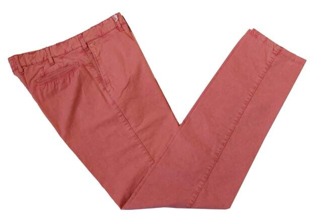 Marco Pescarolo Trousers  32 Washed faded red, flat front, cotton elastane