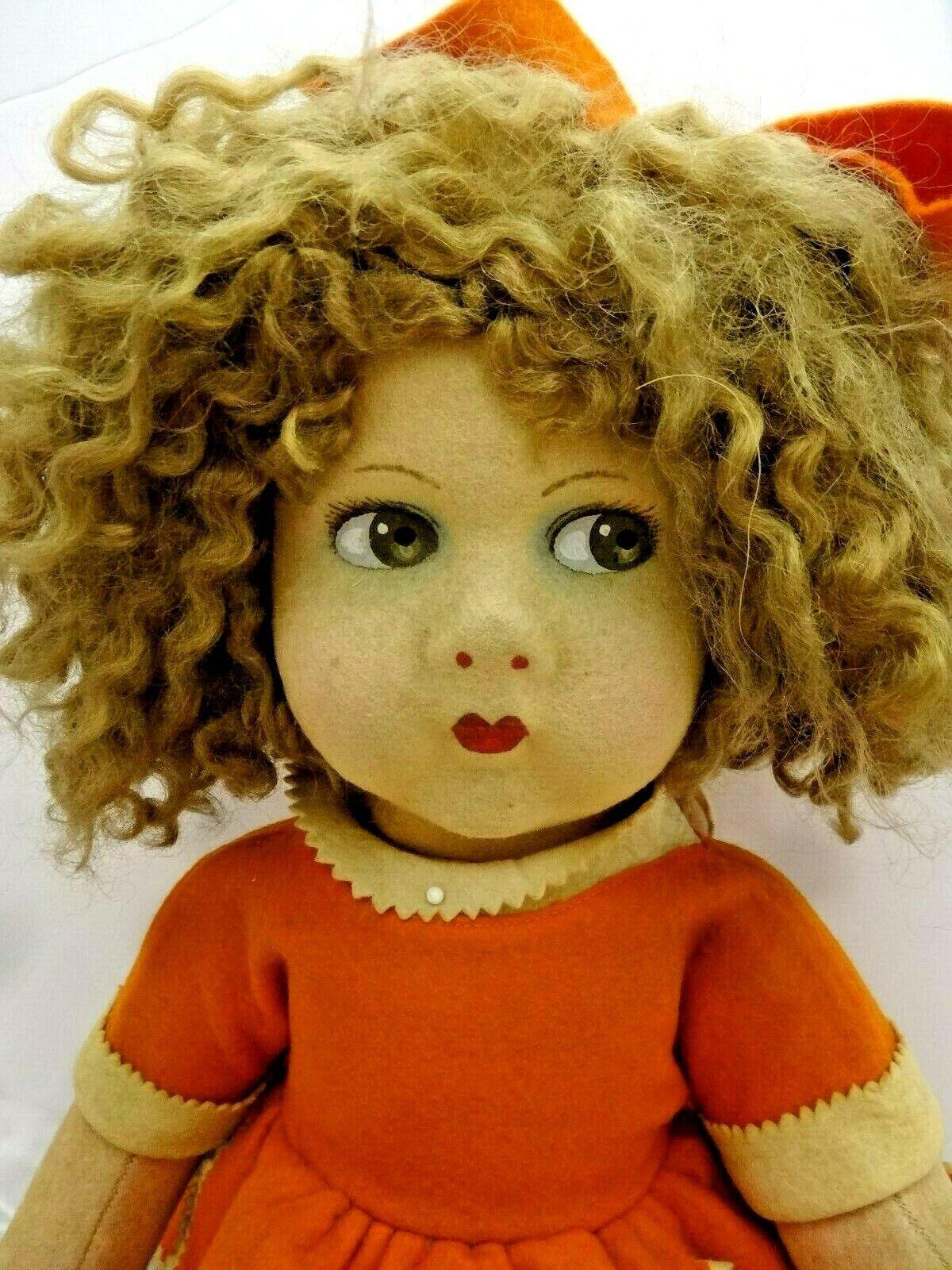 Vintage Lenci Style 22  Doll - Crazy Hair, Comical Doll
